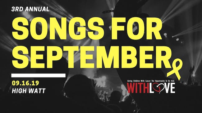 Songs for September: Benefit Concert for WithLove