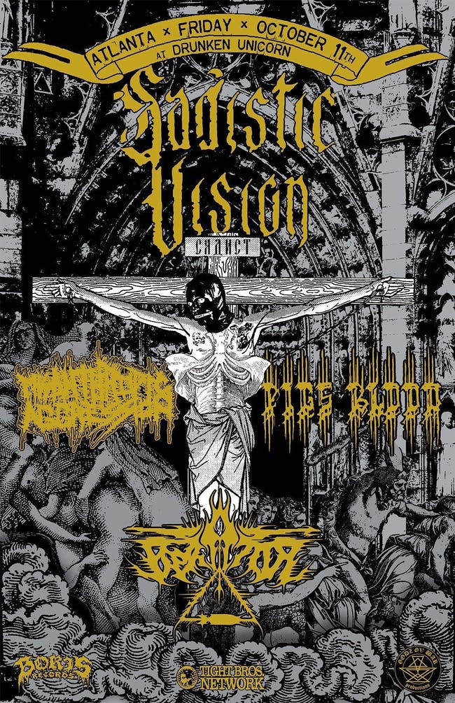 SADISTIC VISION w/ Pig's Blood, Misanthropic Aggression, Berator