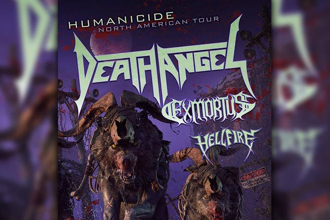 Death Angel w/ Exmortus, Hellfire