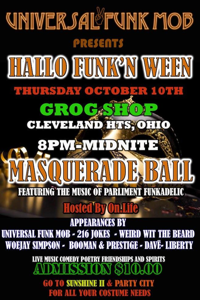 """HALLO  FUNK'N WEEN """"Masquerade Ball"""""""