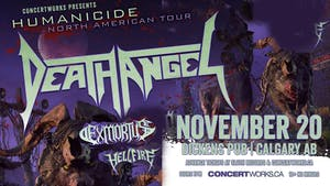 DEATH ANGEL with EXMORTUS & HELLFIRE