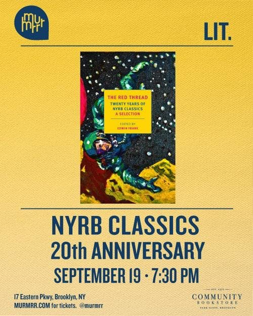 NYRB Classics 20th Anniversary Celebration