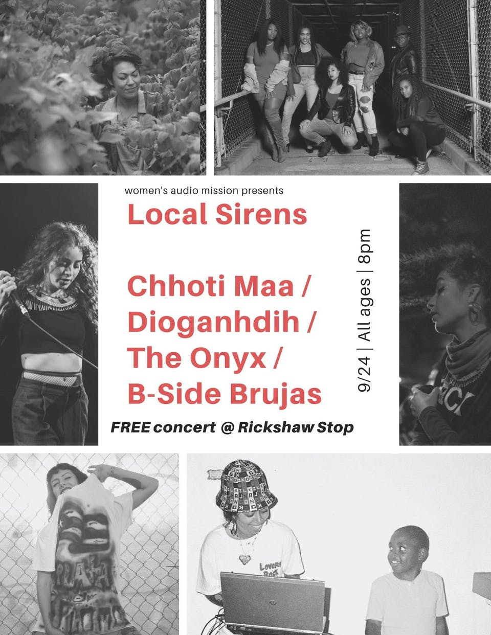 Local Sirens Series: Chhoti Maa, The Onyx, Dioganhdih, The B-Side Brujas