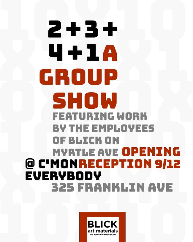 2+3+4+1 *A BLICK staff group show*