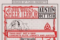 SHEER TERROR • THUG RIOT • GET A GRIP (and more) at Club Dada