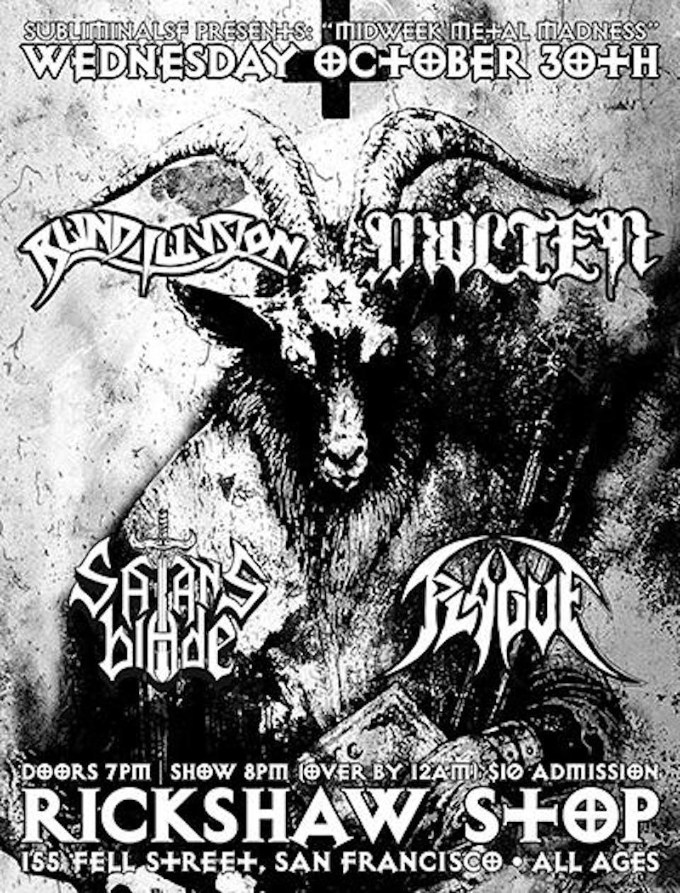 Midweek Metal Madness: BLIND ILLUSION, MOLTEN, SATAN'S BLADE, PLAGUE