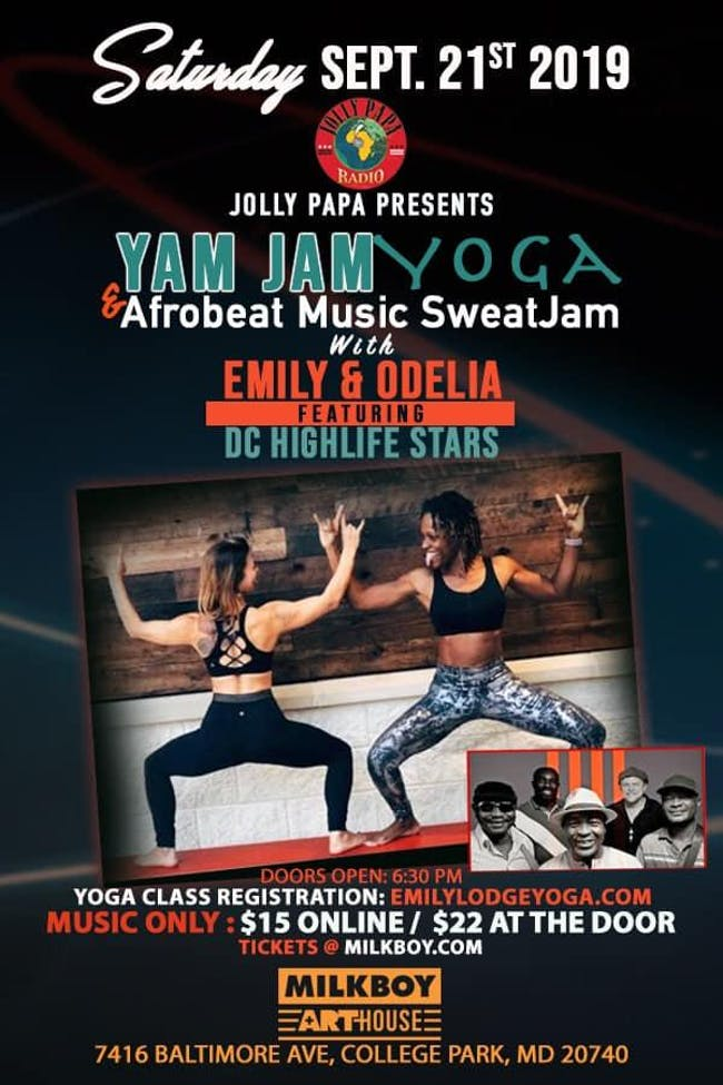 Jolly Papa Presents Yam Jam Yoga & Afrobeat Music SweatJam