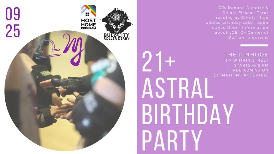 Bull City Roller Derby Astral Bday Party