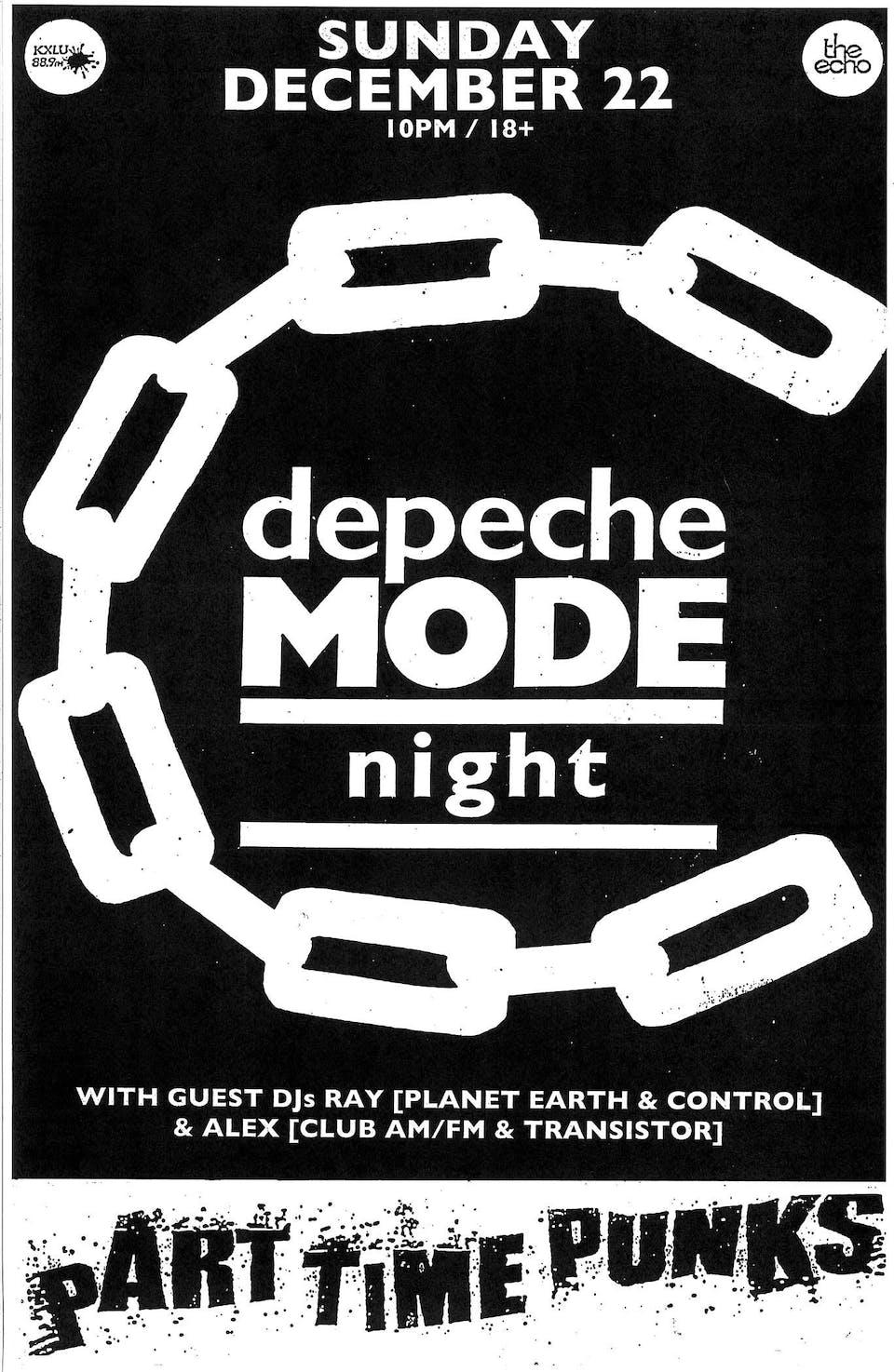 DEPECHE MODE NITE w/Guest DJs Alex Transistor & Ray Kaos