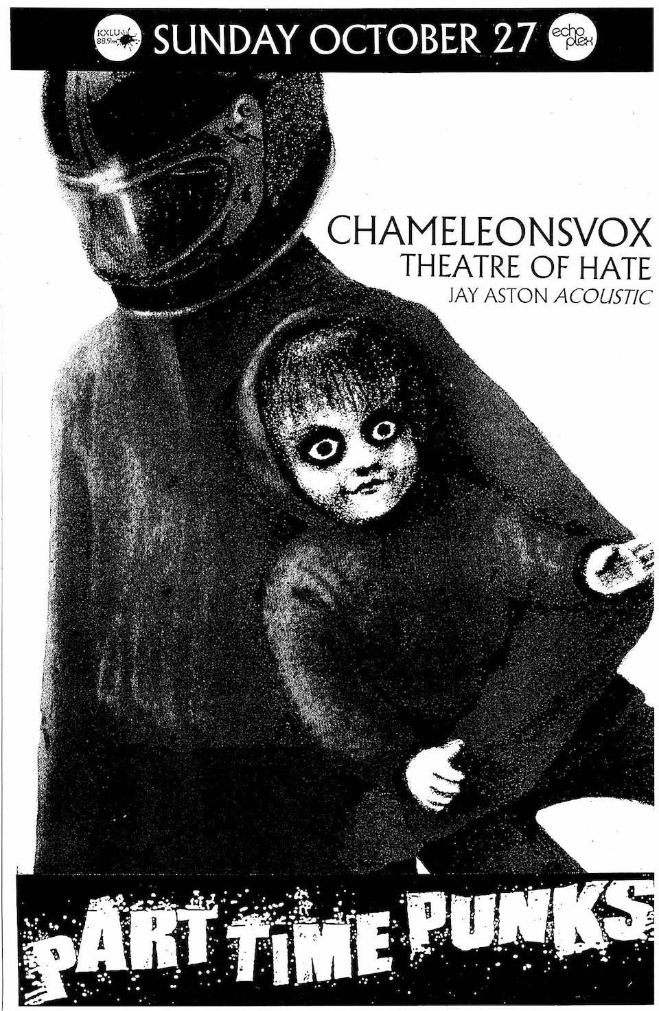 CHAMELEONSVOX + THEATRE OF HATE + JAY ASTON [Gene Loves Jezebel Acoustic)