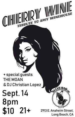 Amy Winehouse Birthday Tribute w/CHERRY WINE + special guests the The Moan