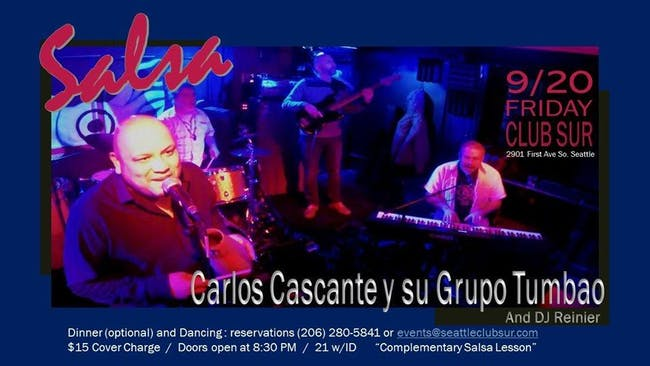 Live Salsa Night with Carlos Cascante y Su Tumbao.