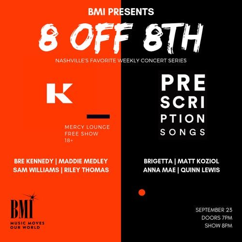 8 Off 8th hosted by Kobalt & Prescription Songs