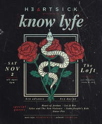 Heartsick performs as Know Lyfe