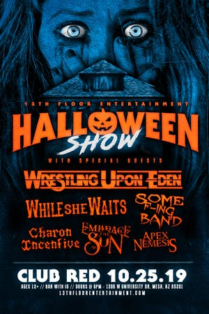 Wrestling Upon Eden Halloween Show Tickets Club Red West