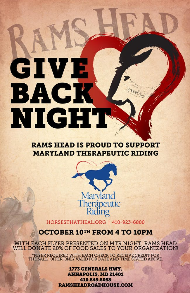 Give Back Night: Maryland Therapeutic Riding