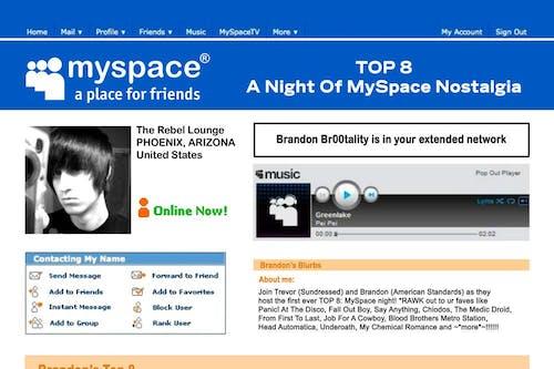 TOP 8: A NIGHT OF MYSPACE NOSTALGIA