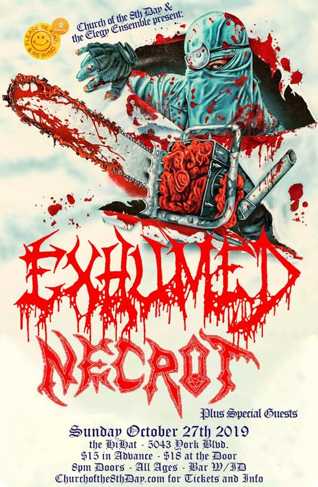 Exhumed and Necrot with BrucexCampbell, Teeth, Phalanx