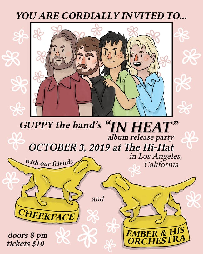 Guppy 'In Heat' Album Release Party with Cheekface, Ember & His Orchestra