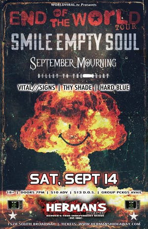 Smile Empty Soul_Sept Mourning_Bullet/Heart_Thy Shade_Hard Blue_Vital/Signs