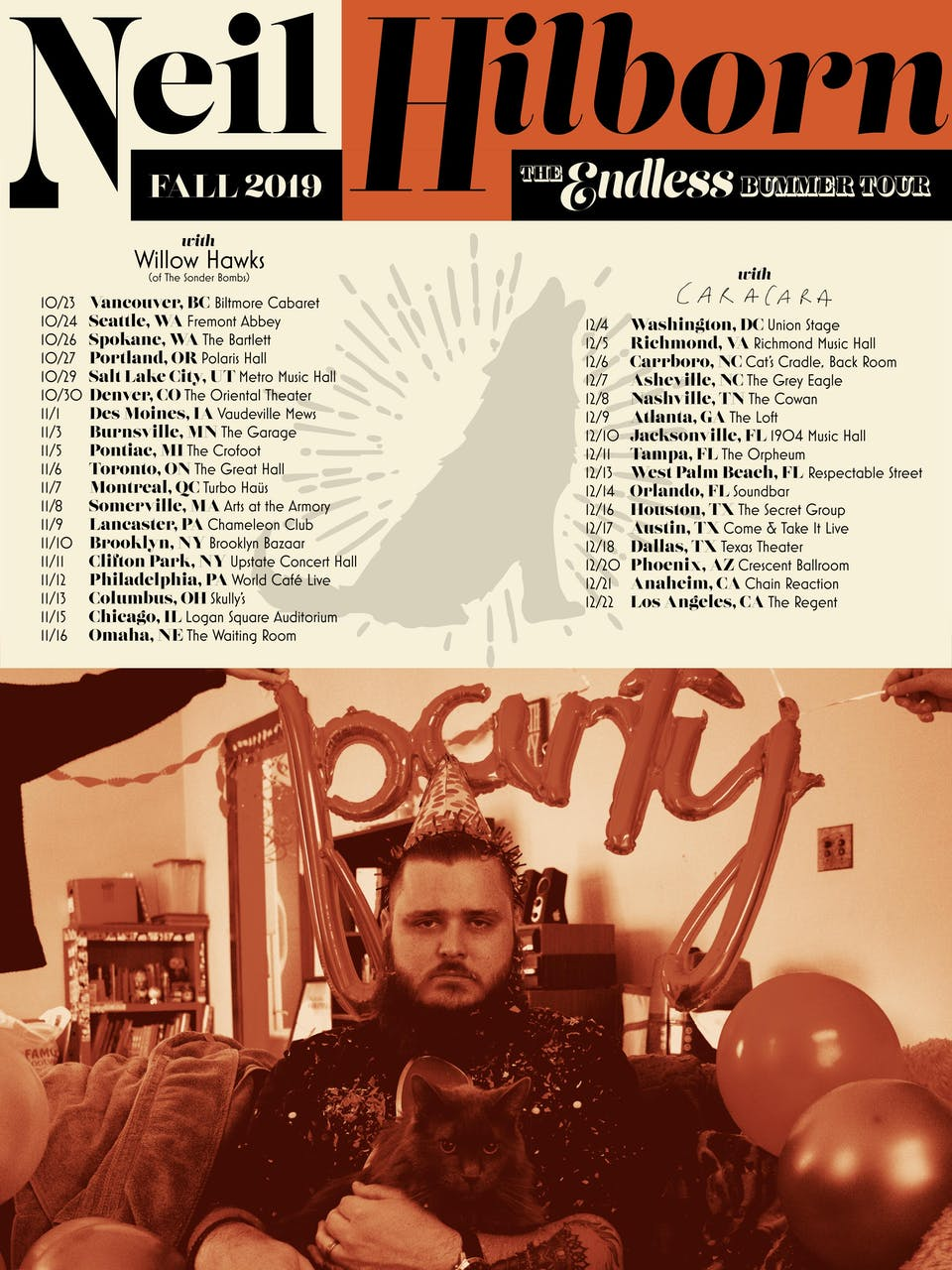 The Endless Bummer Tour featuring Neil Hilborn