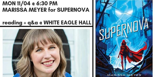 WORD + White Eagle Hall Present MARISSA MEYER