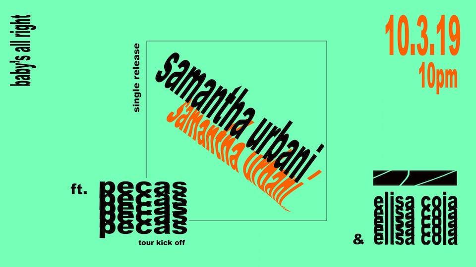 Samantha Urbani with Pecas, Elisa Coia