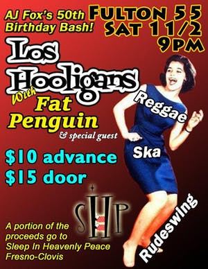 AJ's 50th Birthday bash w/ Los Hooligans & Fat Penguin