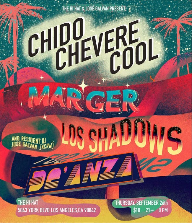 chido / chevere / cool ft. Marger, Los Shadows, De'Anza