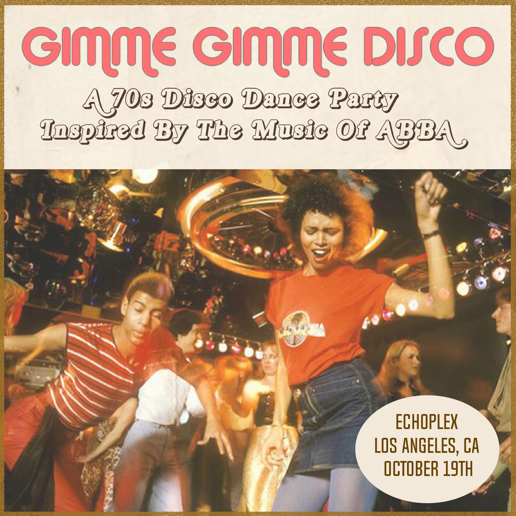 Gimme Gimme Disco: A 70s Disco Party Inspired By The Music of ABBA