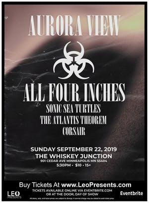 * Whiskey Junction*  AURORA VIEW, ALL FOUR INCHES + MORE