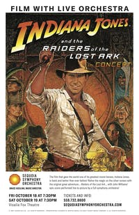 Sequoia Symphony Orchestra—Raiders of the Lost Ark (Friday)