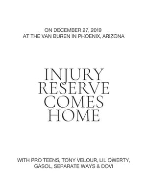 Injury Reserve Comes Home