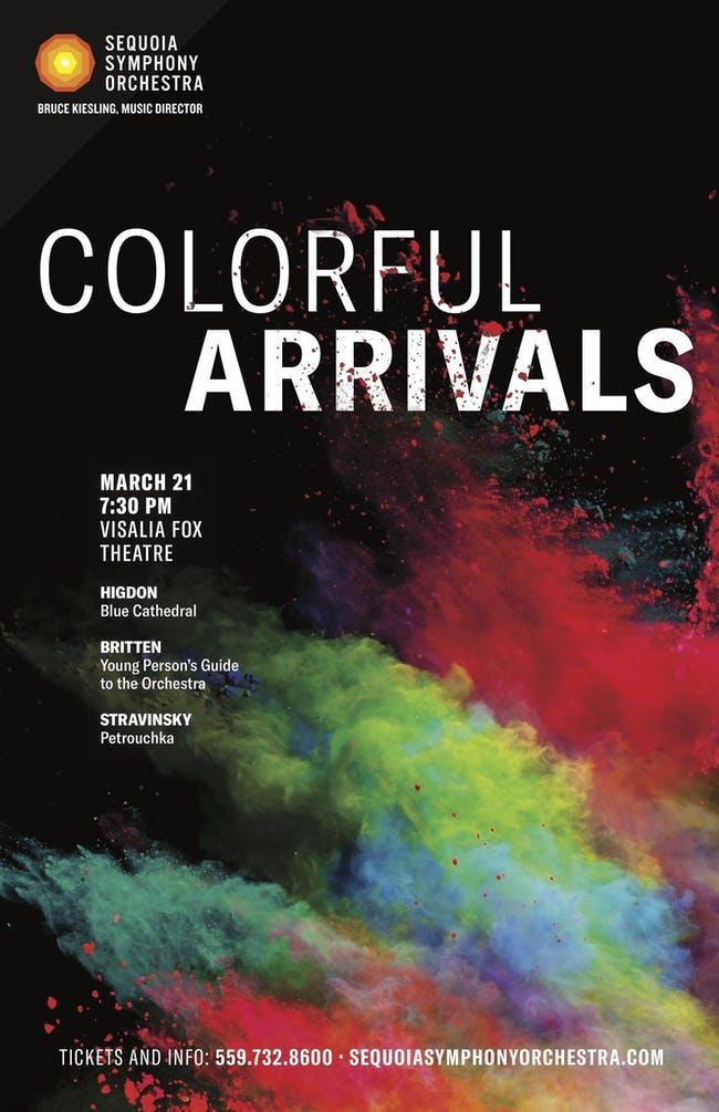 Sequoia Symphony Orchestra ~ Colorful Arrivals