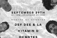 Def Dee & La x Vitamin D x ocnotes x Bruce Leroy x Greg Cypher