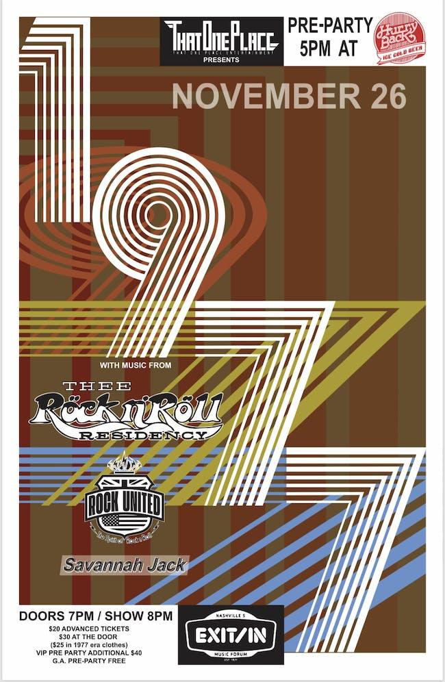 1977 feat. Thee Rock n' Roll Residency, Rock United, & Savannah Jack