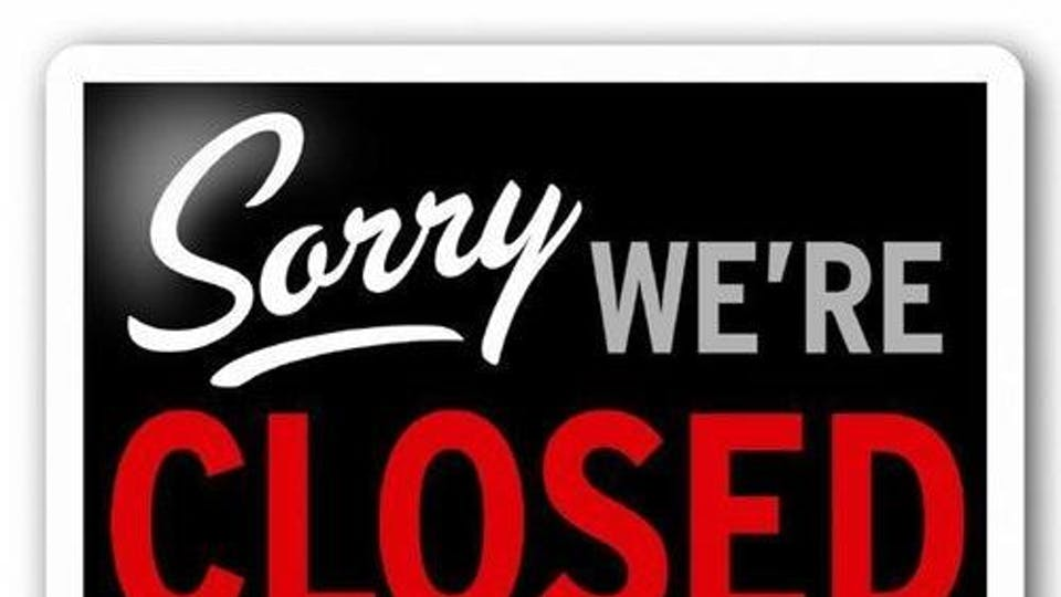 We're Closed