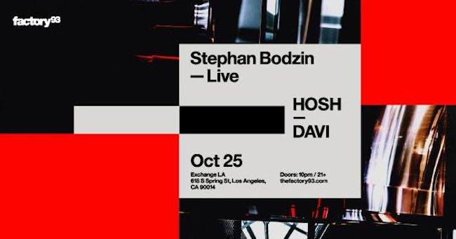 Stephan Bodzin (Live) and HOSH