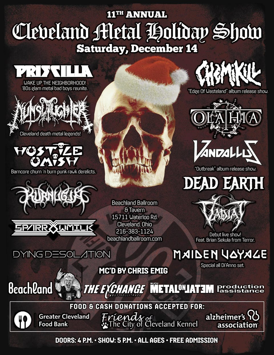 11th Annual Cleveland Metal Holiday Show feat. Priscilla