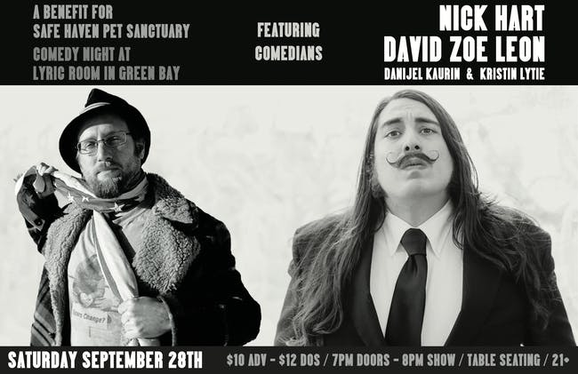 COMEDY NIGHT w/ NICK HART & DAVID ZOE LEON + DANIJEL KAURIN, KRISTIN LYTIE
