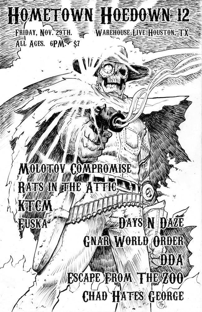 MOLOTOV COMPROMISE, DAYS N DAZE, K.T.C.M., RATS IN THE ATTIC, DDA, FUSKA