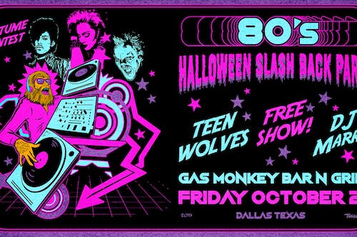80's Halloween Slash Back Party feat. Teen Wolves