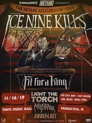 OCTANE'S ACCELERATOR TOUR FEATURING ICE NINE KILLS