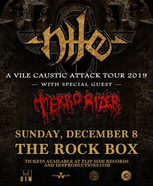 Nile with guests Terrorizer