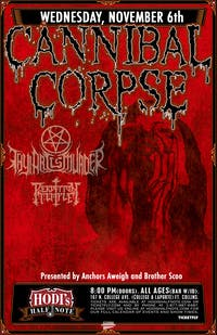 Cannibal Corpse, Thy Art Is Murder, Perdition Temple