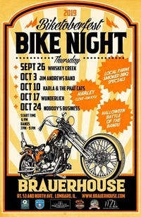 Biketoberfest Bike Night with Band: Nobody's Business  at Brauer House