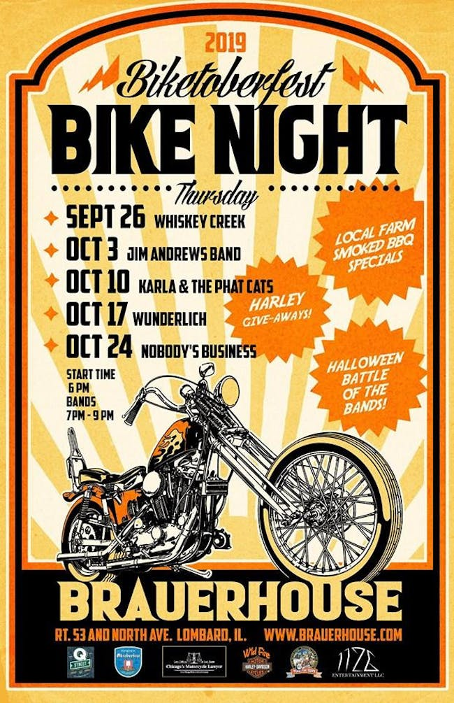 Biketoberfest Bikes Night with Band: Karla & The Phat Cats at Brauer House