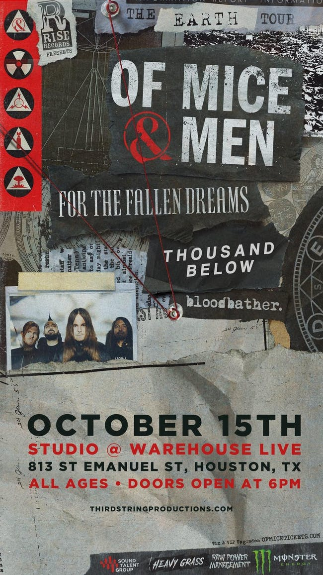 OF MICE & MEN / FOR THE FALLEN DREAMS / THOUSAND BELOW