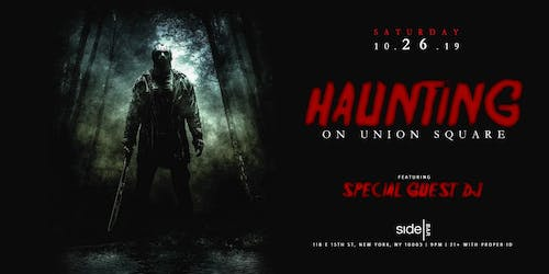 Haunting on Union Square at SideBar Halloween 10/26