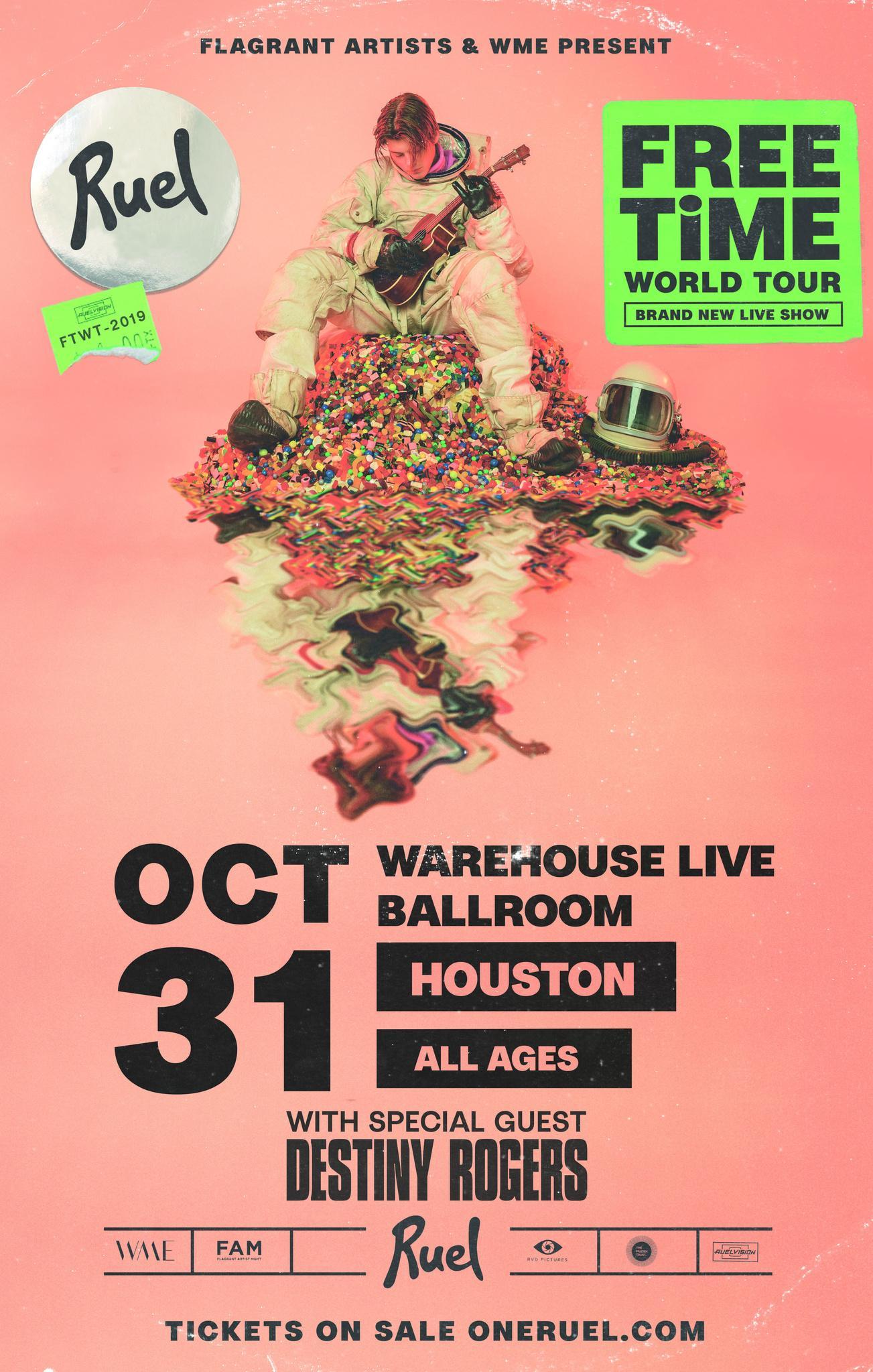 RUEL - FREE TIME WORLD TOUR